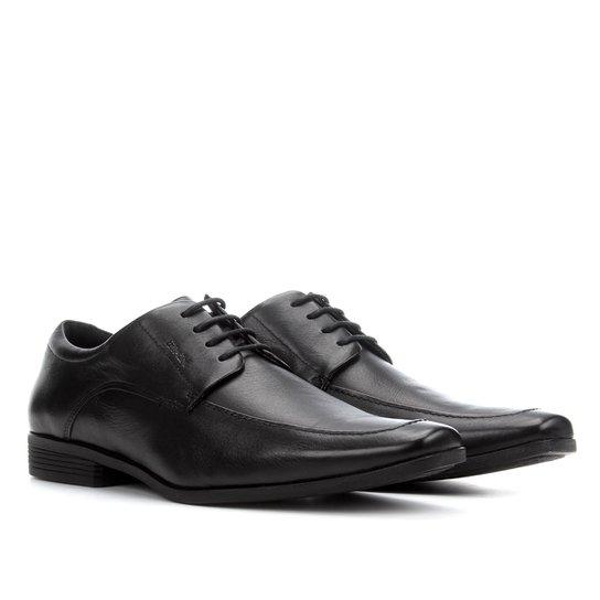 Sapato Social Couro Ferracini Clássico Cadarço - Preto