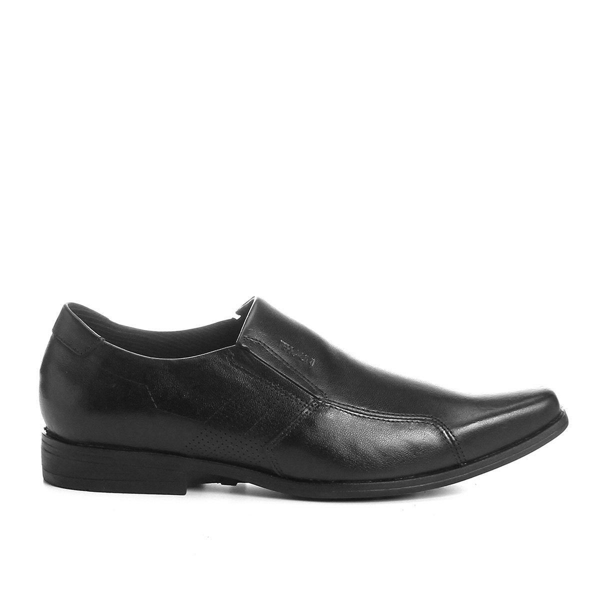 Sapato Preto Masculino Couro Social Perfuros Ferracini Sapato Social 0OwqZw