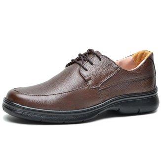 Sapato Social Couro Floater Conforto Marrom Masculino
