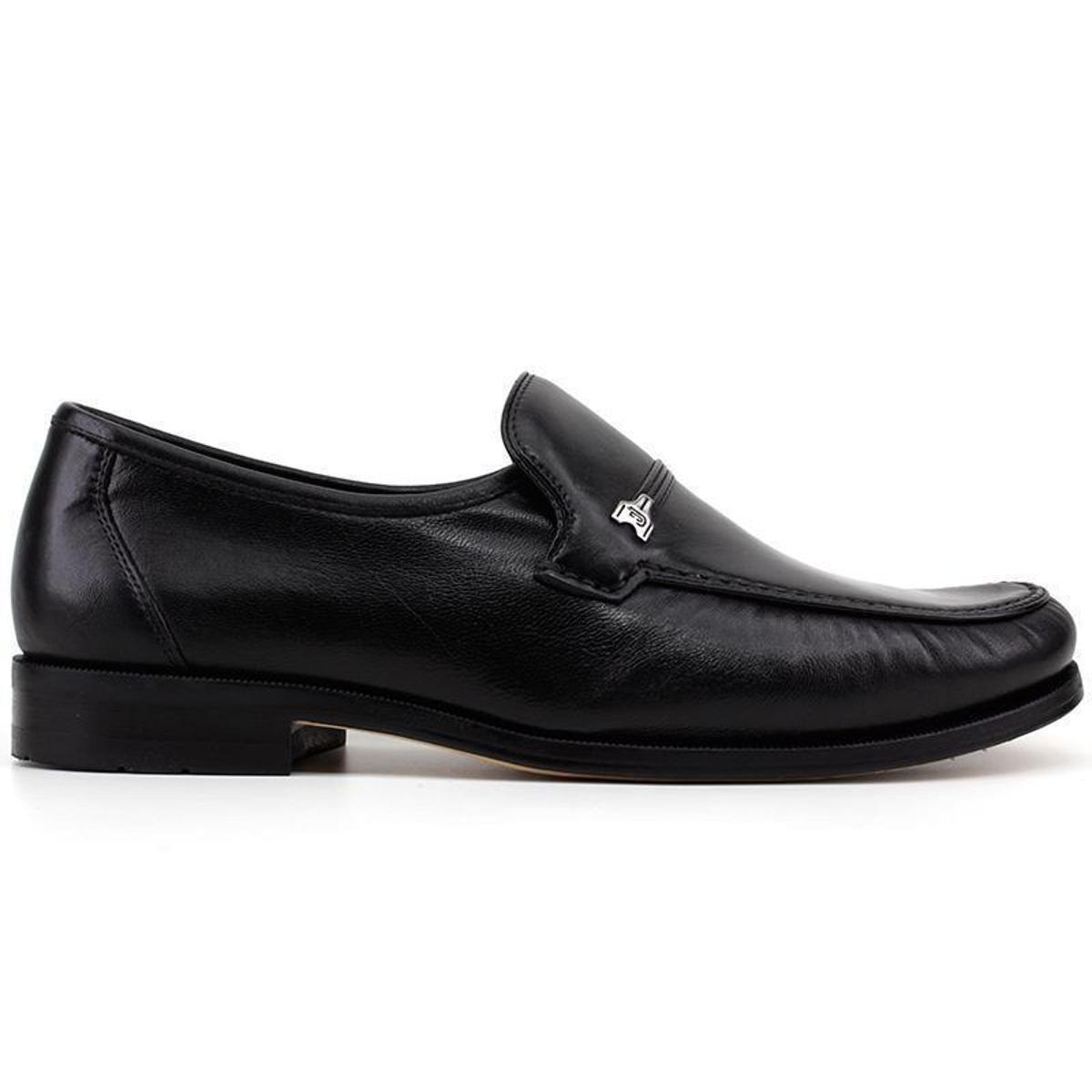 Sapato Social Couro Jacometti 001 Masculino - Preto