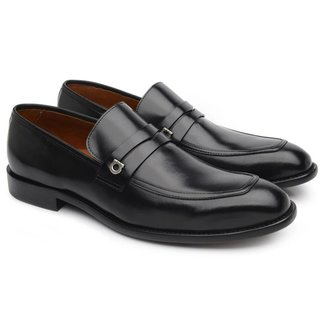 Sapato Social Couro Jacometti Masculino Solado Couro Loafer