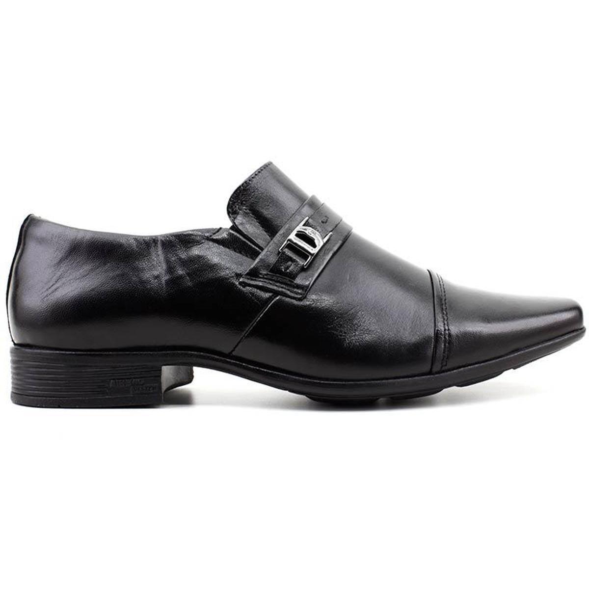 Sapato Social Couro JotaPe Masculino - Preto