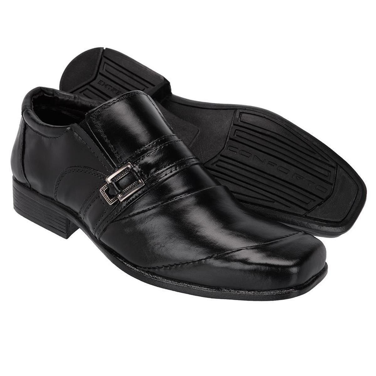 Sapato Preto Social Couro Sapato Masculino Social Leoppé vHqr6v