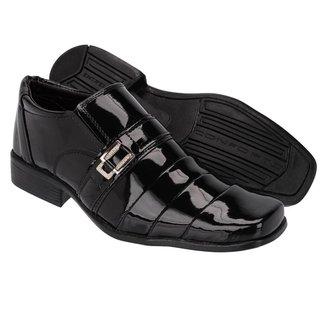 Sapato Social Couro Leoppé Verniz  Masculino