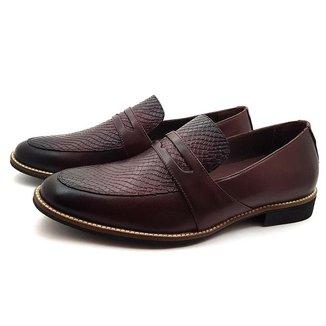 Sapato Social Couro Mah Loafer com Gravata Wood Masculino