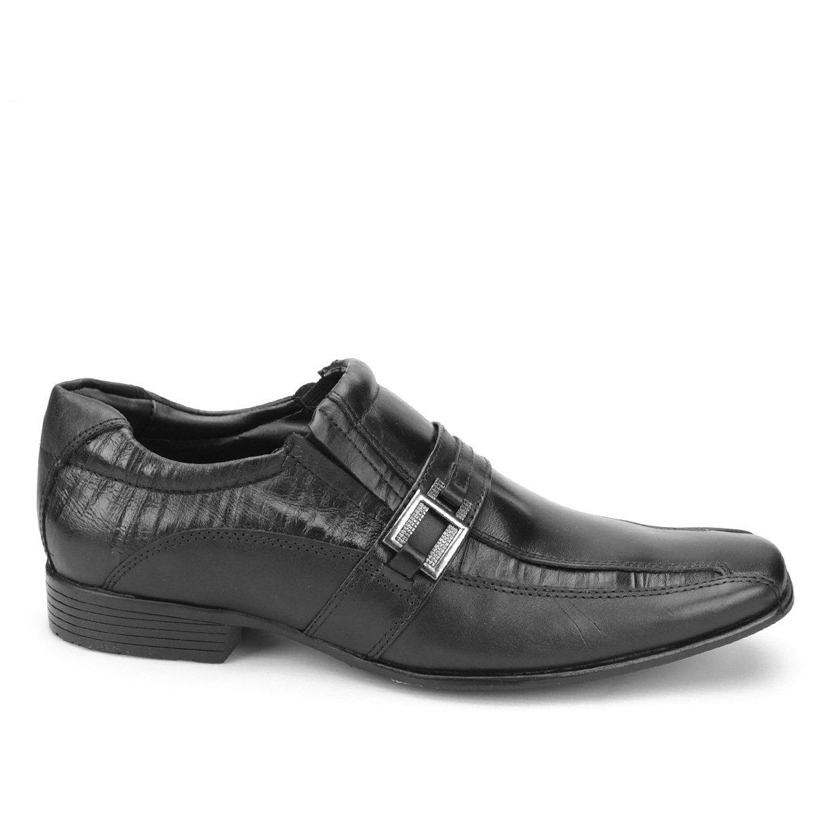 Mariner Bico Sapato Quadrado Sapato Social Masculino Preto Couro Smart Social wXqIx75p5