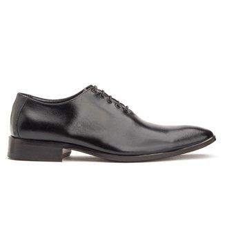 Sapato Social Couro Masculino Bigioni Brogue Liso Cromo