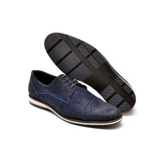 Sapato Social Couro Masculino Cadarço Confortável Casual