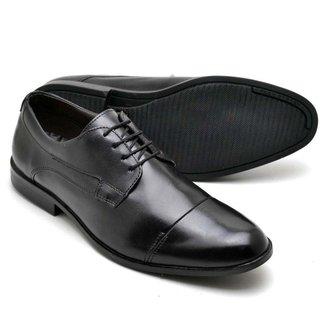 Sapato Social Couro Masculino Cadarço Conforto Dia a Dia