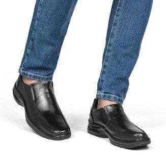 Sapato Social Couro Masculino Conforto Clássico Liso