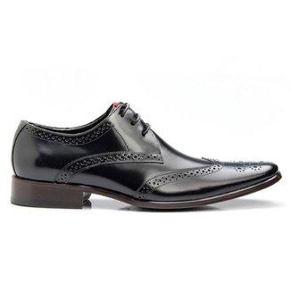 Sapato Social  Couro Masculino Luxo Bigioni Solado