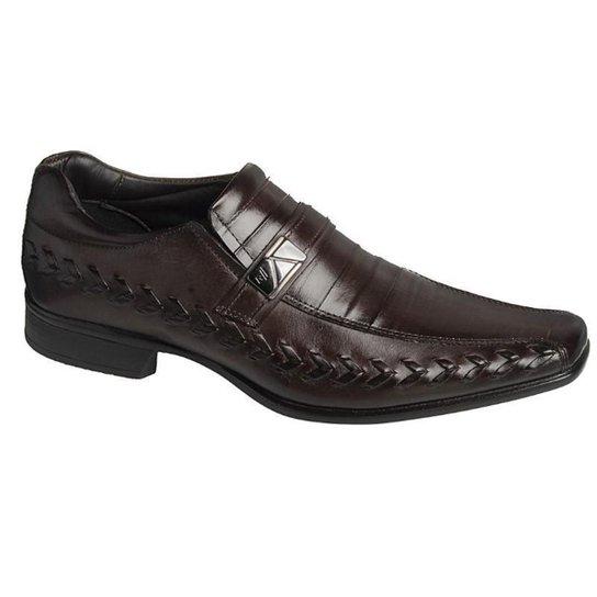 Sapato Social Couro Masculino Rafarillo - Marrom Claro