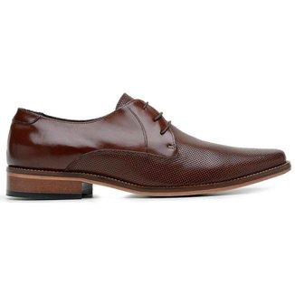 Sapato Social Couro Mouro Estampa 54214 M Perf
