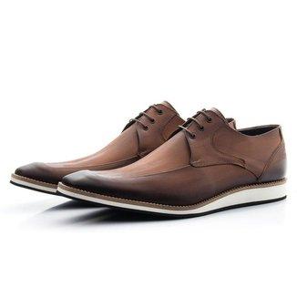 Sapato Social Couro Pala Estampada Bigioni Masculino