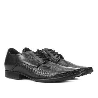 Sapato Social Couro Pegada Amarração Bico Fino Masculino