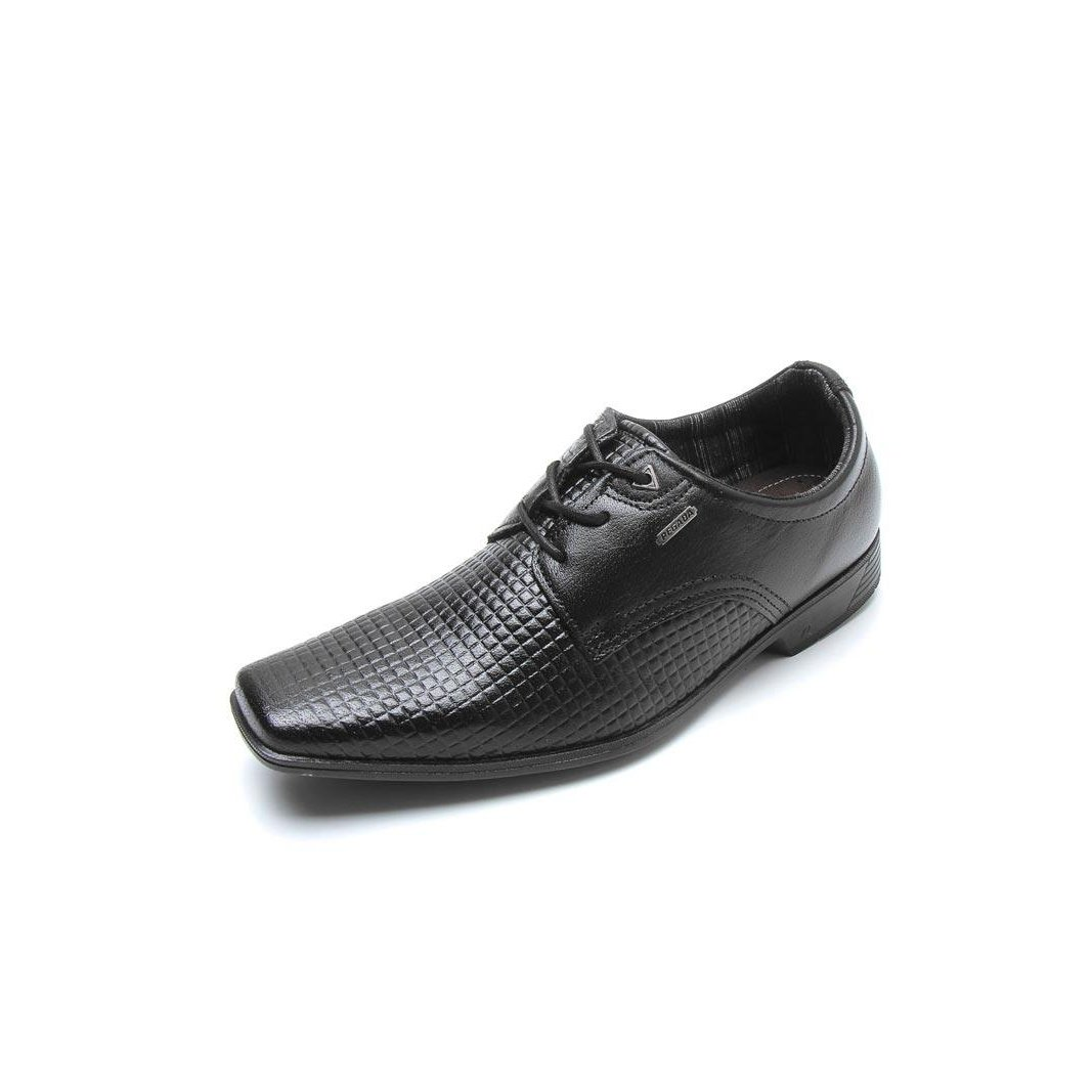 Sapato Social Amortech Sapato Pegada Couro Masculino Preto Social fXdwHX