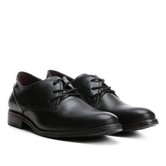 Sapato Social Couro Pegada Anilina - Preto