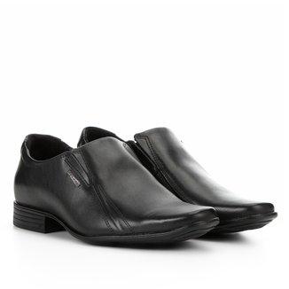 Sapato Social Couro Pegada Bico Quadrado Masculino