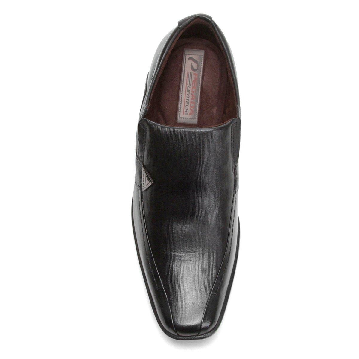 Quadrado Sapato Bico Couro Social Sapato Pegada Preto Social dqY7wXq