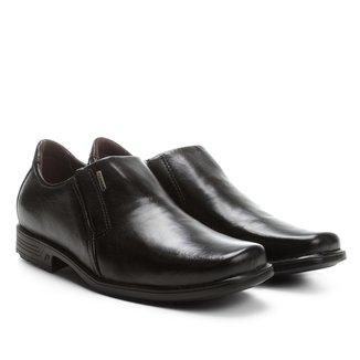 Sapato Social Couro Pegada Bico Quadrado