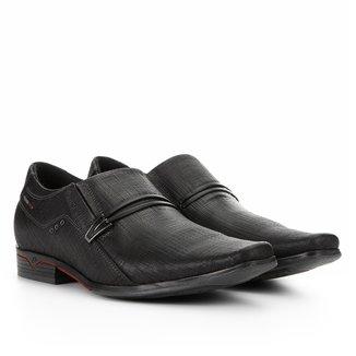 Sapato Social Couro Pegada Fivela Masculino