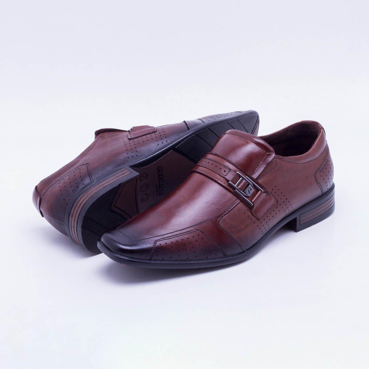 8470df03e9 Sapato Social Couro Pegada Fivela Pinhão Masculino - Compre Agora ...