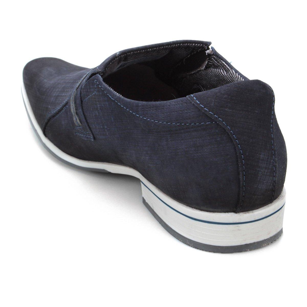 Sapato Couro Sapato Azul Masculino Social Social Pegada Saq8x5wvTp