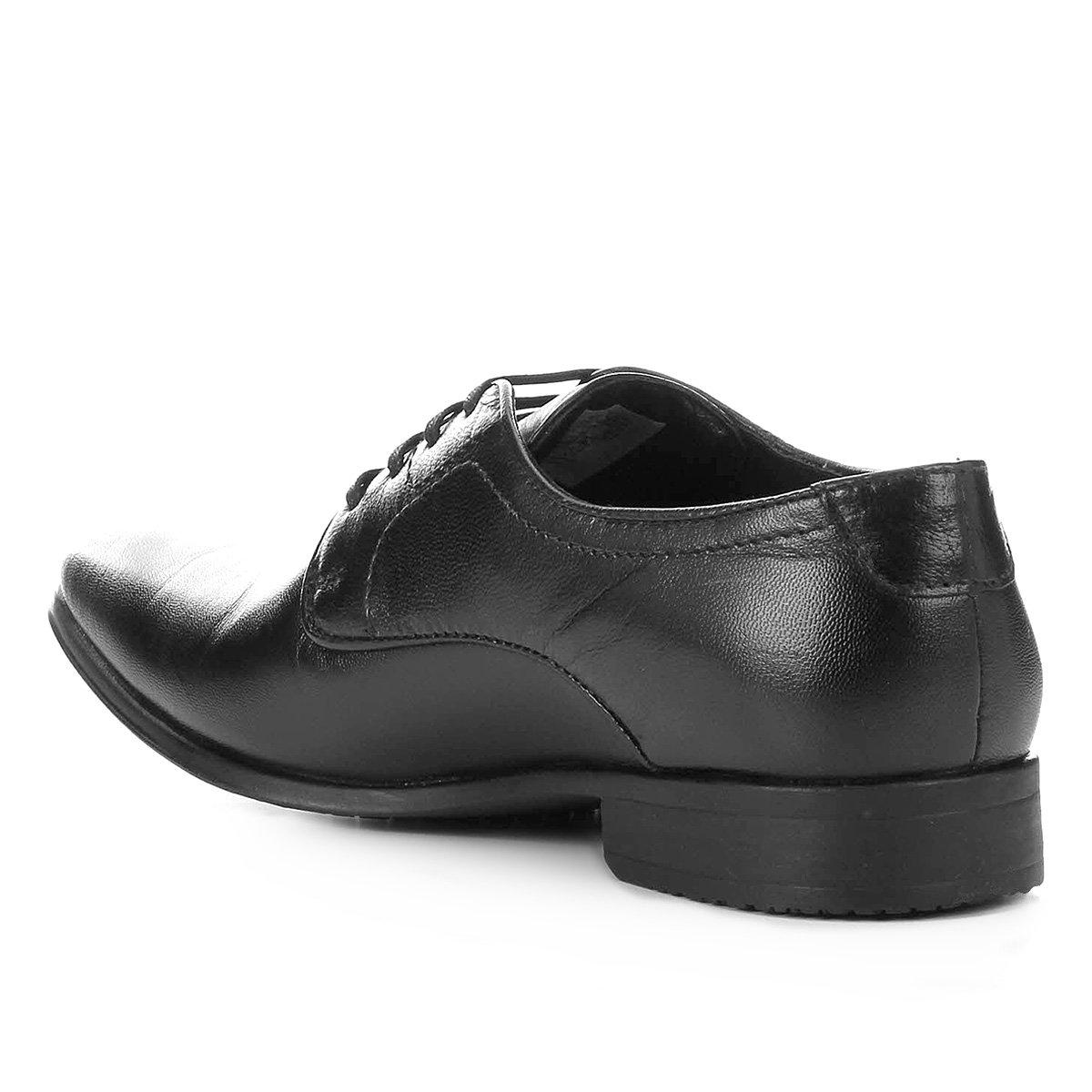 Sapato Social Couro Pipper Spencer - Preto