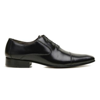 Sapato Social Couro Preto Premium Executive 55808fn
