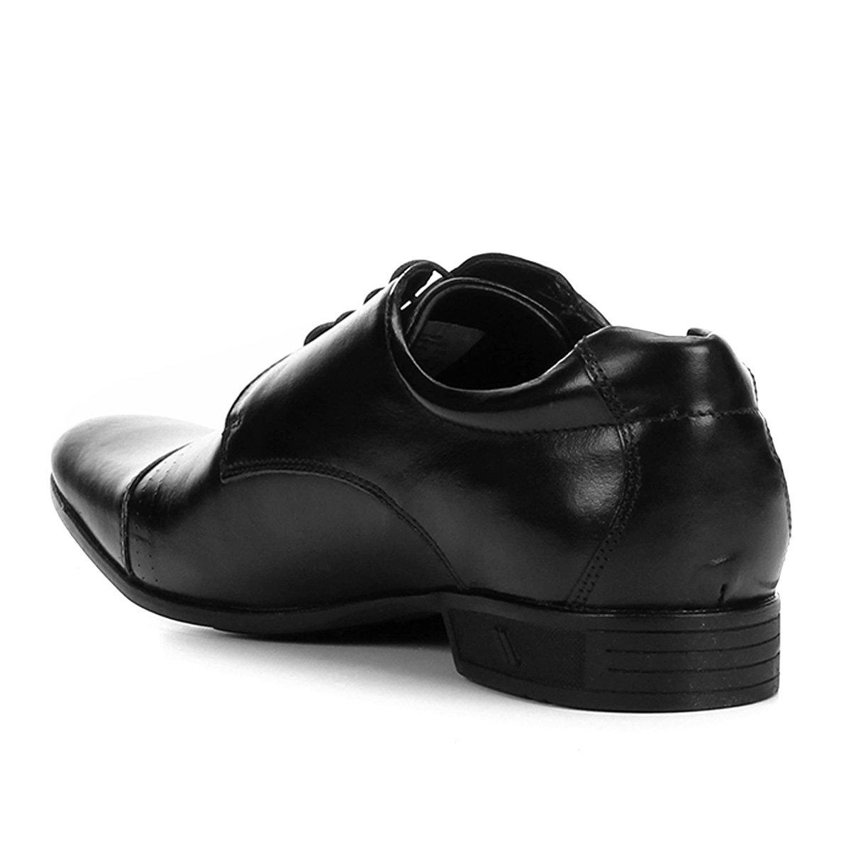Rafarillo Preto Detalhe Social Vegas Couro Costura Masculino Sapato New pTEx6wgAq