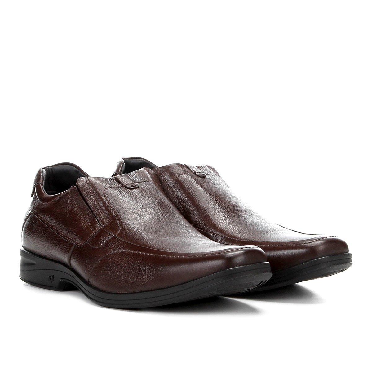 Confort Sapato Sapato Rafarillo Marrom Couro Social Duo Social qZ8Ygq