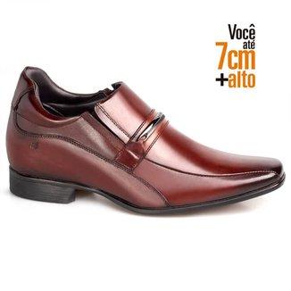 Sapato Social Couro Rafarillo Masculino Elástico Salto 7cm