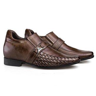 Sapato Social Couro Rafarillo Masculino Salto 7cm Conforto