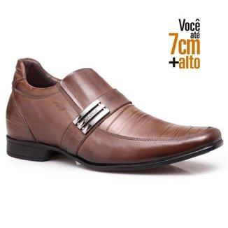 Sapato Social Couro Rafarillo Masculino Salto 7cm Flexível