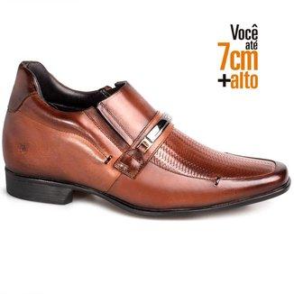 Sapato Social Couro Rafarillo Masculino Tressê Bridão Salto