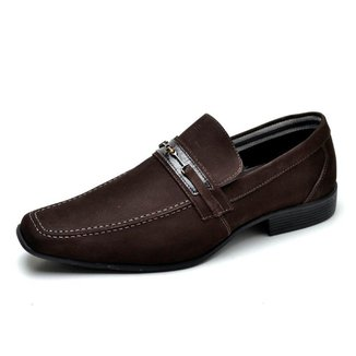 Sapato Social Couro Reta Oposta Masculino