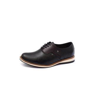 Sapato Social Couro Shoes Grand  Ingles Casual Masculino