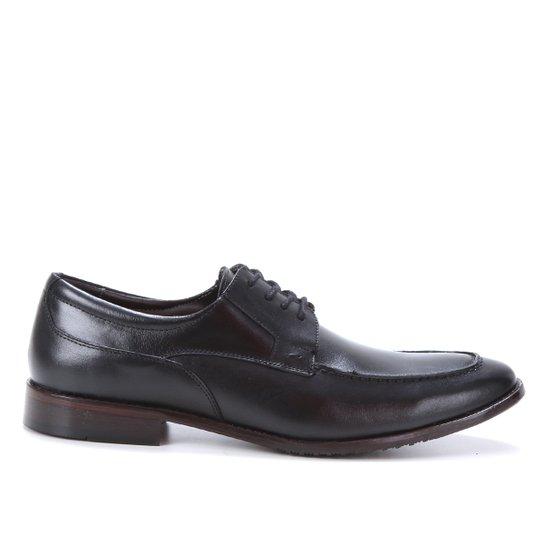 Sapato Social Couro Shoestock Básico Masculino - Preto