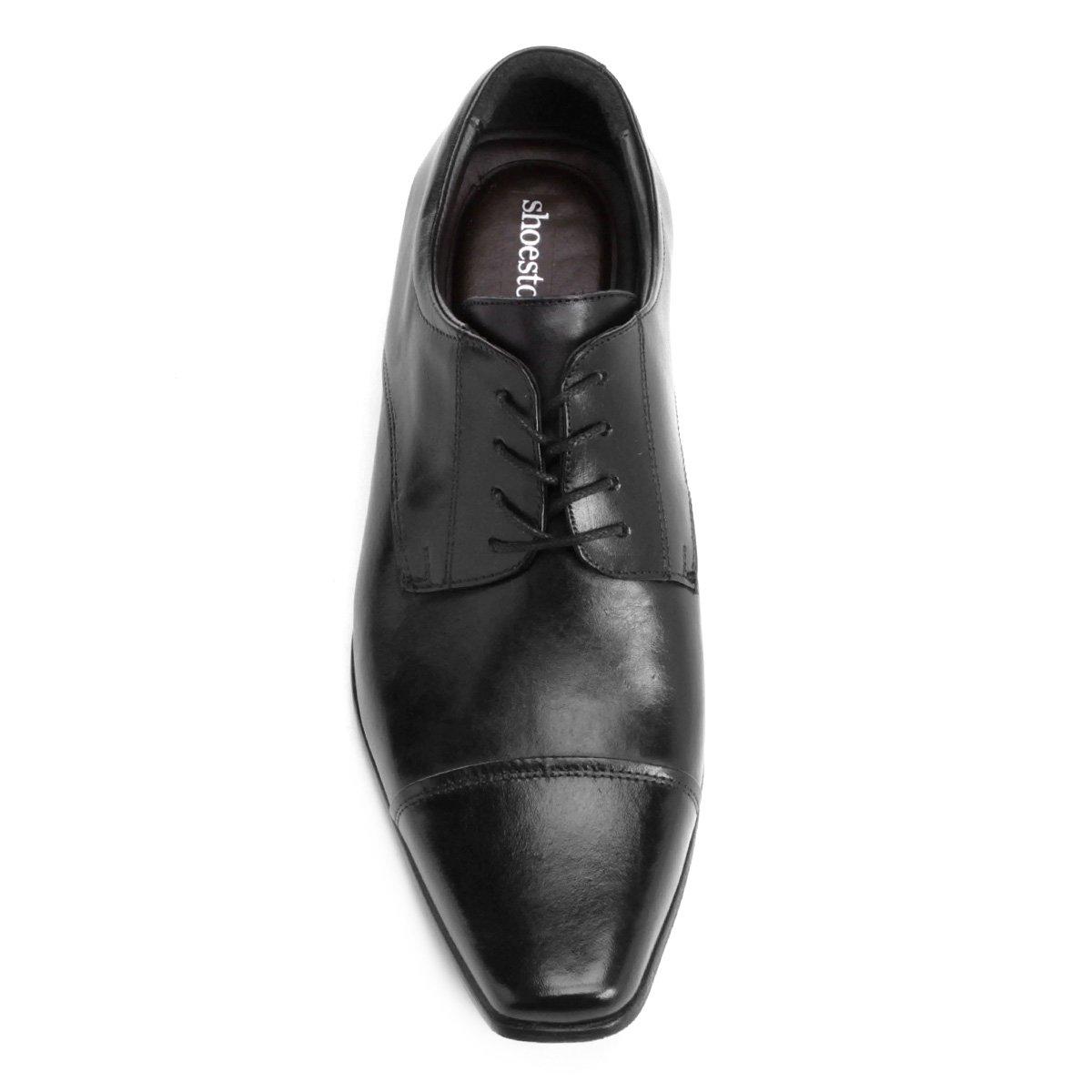 Shoestock Bico Shoestock Couro Quadrado Couro Social Sapato Bico Preto Social Sapato dS0Wnn