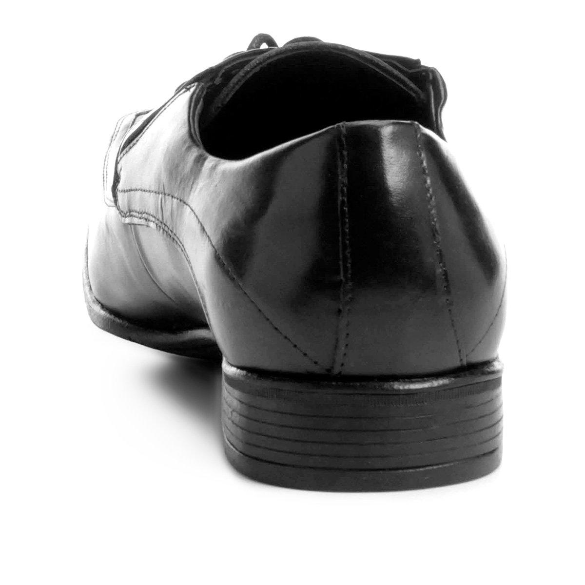 Sapato Social Sapato Couro Shoestock Shoestock Preto Social Quadrado Bico Couro Bico HqwrBRH