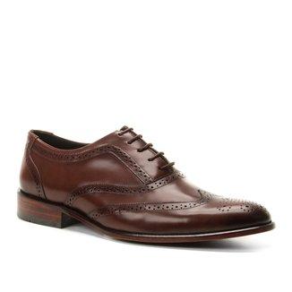 Sapato Social Couro Shoestock Brogues Romana Masculino