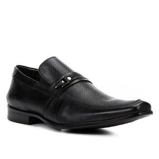Sapato Social Couro Shoestock Textura Fivela Masculino