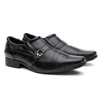 Sapato Social Couro Sola Flexível Conforto Macio Masculino