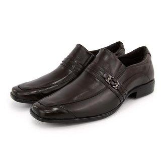 Sapato Social Couro Sport Fino Masculino