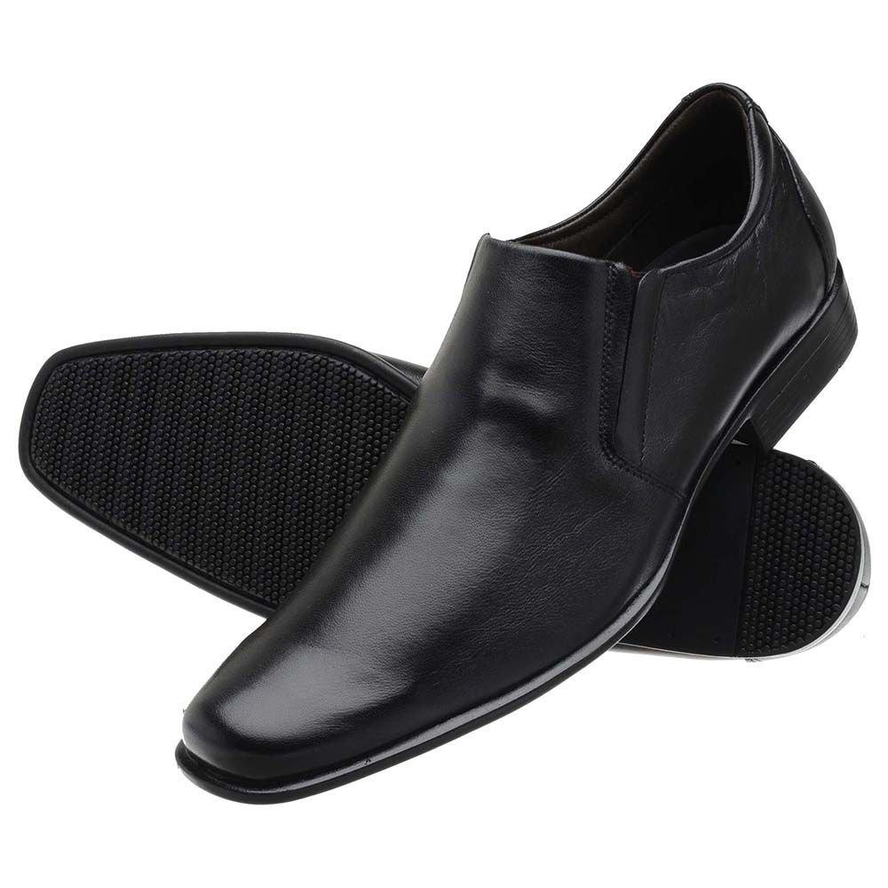 Elástico Elástico Sapato Sapato Stefanello Couro Social Couro Masculino Preto Social Sapato Stefanello Preto Masculino nIAqPUq