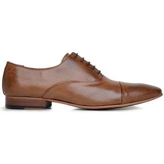 Sapato Social Couro Tan Marrom 60078