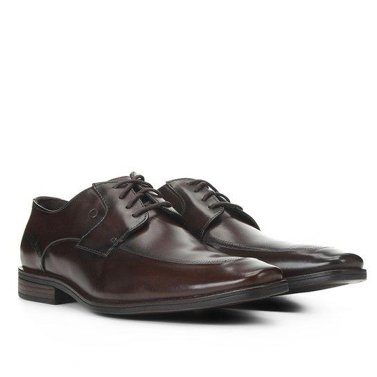 Sapato Social Couro Venise Masculino - Marrom Escuro