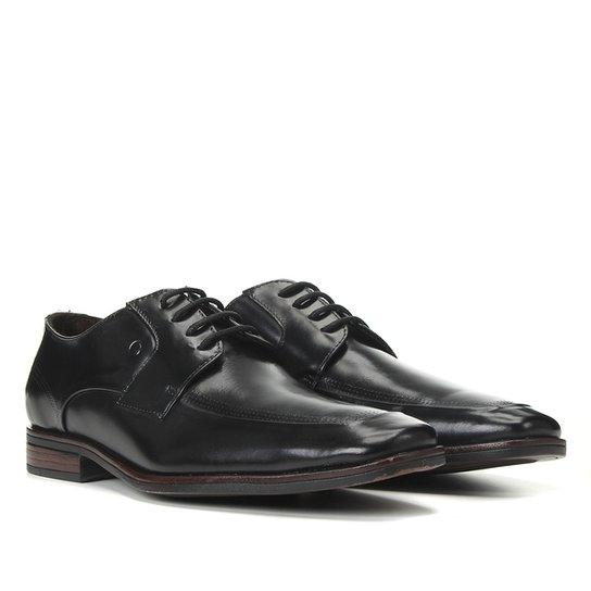 Sapato Social Couro Venise Masculino - Preto