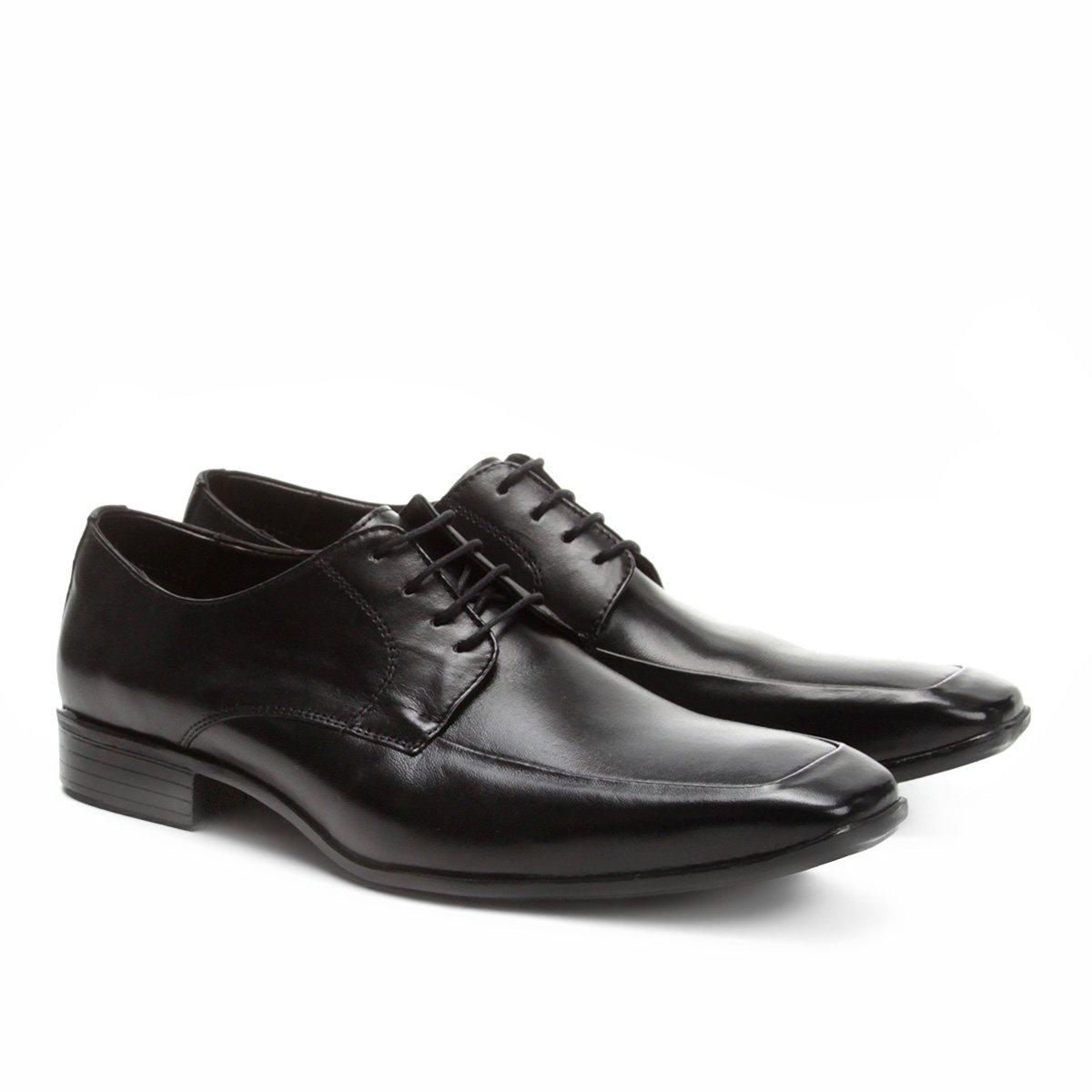 Preto Walkabout Social Quadrado Sapato Sapato Social Bico Couro 6IPq0q7