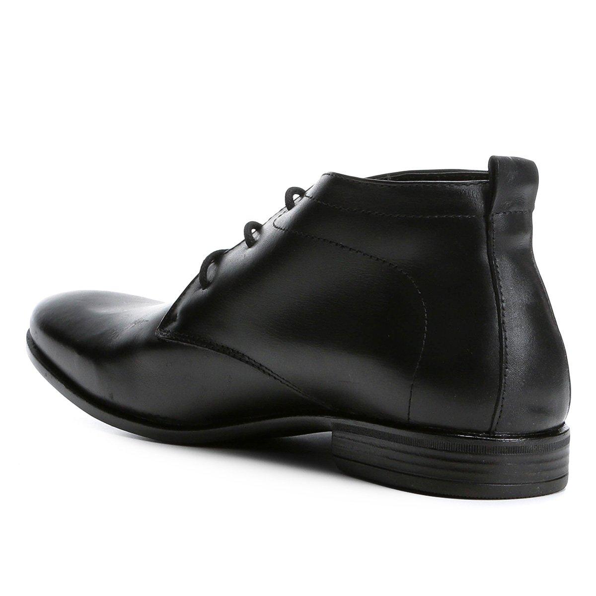 Cano Social Walkabout Sapato Básico Masculino Couro Alto Sapato Social Preto wq6XSx6E